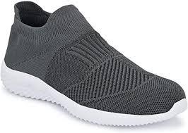 Buy AFROJACK <b>Men's Air Mesh</b> Knitwear Running Shoes Grey at ...