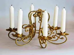 image of real candle chandelier lighting