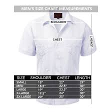 Haband Men S Size Chart Guayabera Mens Haband Cuban Wedding Short Sleeve Button Up Shirt Burgundy S