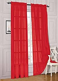 2 Sheer Voile Curtains 108