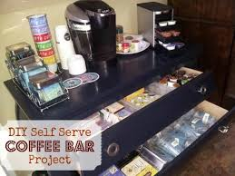 home coffee bar furniture. ever wanted a coffee bar at home organize your and tea collection with this easy diy self serve project invite friends over furniture