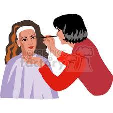 people working beautician makeup artist women clip art people