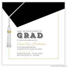 Invitation For Graduation Classic And Modern Graduation Cap Invitation