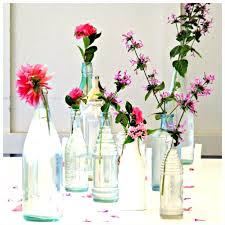Use those bottles I have as a cluster of small vases