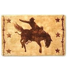 western bathroom rugs kitchen bath horses rug set themed s