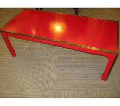 red lacquered furniture. F-5200-123 : MING STYLE COFFEE TABLE WITH RED CASHEW LACQUER OVER CANVAS Red Lacquered Furniture