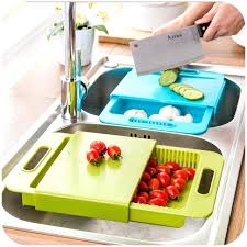 sink cutting boards kitchen sink cutting board plastic drain basket vegetables cut with one washing sink