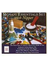 mosaic essentials set with nipper mosaic kit