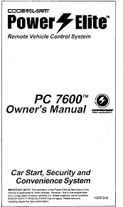Pcgne2 Code Alarm Transmitter User Manual Code Systems