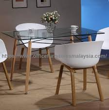 modern dining table design with glass top cafe furniture malaysia kuala lumpur cheras ampang1