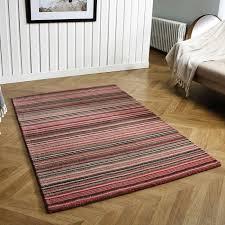 carter pink striped wool rug