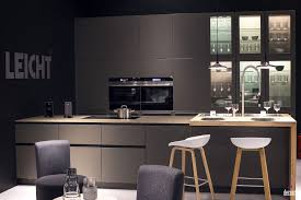 Dark Gray Cabinets Kitchen Gray Cabinets And Island Double Black Wall Ovens White Wooden Bar