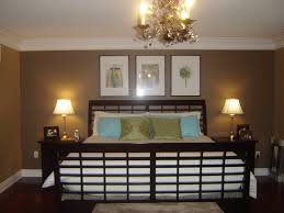 Two Tone Bedroom Wall Color Using Brown And White Themes Added .