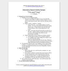 inform speech outline example classroom ideas informative speech outline example