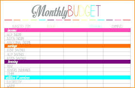 View Larger Simple Budget Templates Free Home Sheet Template