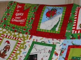 67 best Quilt Panels images on Pinterest | Quilt block patterns ... & Grinch quilt using pre print panels Adamdwight.com