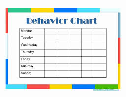 Behavior Chart Template For Word Beautiful 31 Design Behaviour Chart Template Ks1