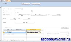 Скачать базу данных access Склад Базы данных access Готовая  Скачать готовую базу данных Склад Форма Расход