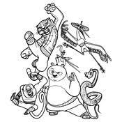 Kleurplaat Kung Fu Panda 4025