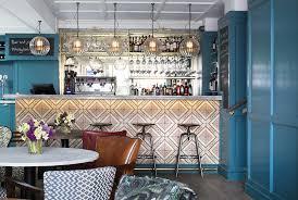 designer lighting handblown hereford globe glass pendant light over bar at the bower house uk handblown hereford pendants