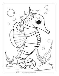 Why not start with ocean animals coloring pages for kids? Ocean Animals Coloring Pages For Kids Itsybitsyfun Com