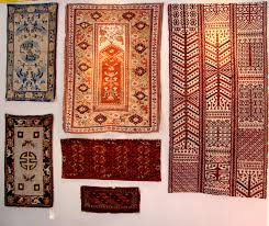on one booth wall for yoruk rug gallery chicago is a turkish melas prayer