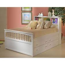 Classic White Full Storage Bed with 1 Side Storage Drawers