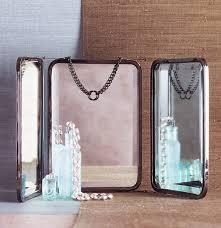 Mirrors, Trifold Mirror Standing Tri Fold Mirror Tri Fold Vanity Mirror  Small 3 Way Folding