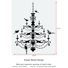 chandelier with birds living room chandelier with birds stencil for wall decor painting decorate gold sputnik