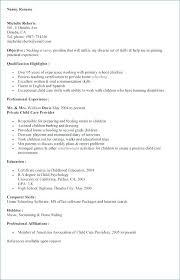 Nanny Resume Skills Nursing Resume Professional Nanny Resume Skills ...