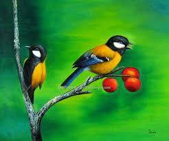 birds on a cherry tree