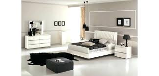 White Lacquer Bedroom Set Contemporary Brown Finish Lane Black B ...