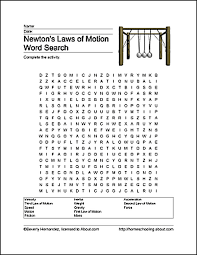 Fun Ways to Learn About Newton's Laws of Motion | Word search ...