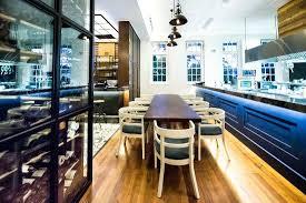 open door restaurant kitchen table