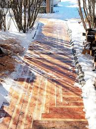 picture of how to build an awesome sidewalk with recycled lumber for only 50 00