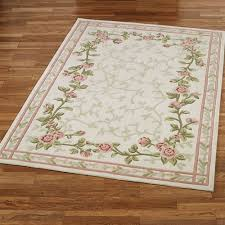 blush bloom rectangle rug