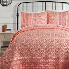 Jessica Simpson Mosaic Border Quilt Collection - BedBathandBeyond ... & The Jessica Simpson Mosaic Border Quilt features an enchanting medallion  motif bordered by floral vines in pretty coral shades. It gives the classic  mosaic ... Adamdwight.com