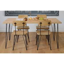 industrial dining furniture. Felix Industrial Dining Table / Desk - Solid Oak And Steel Industrial Dining Furniture