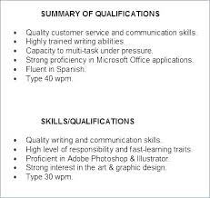 Summary Of Qualifications Resume Amazing Summary Qualifications Examples Accountant For Resumes Ability