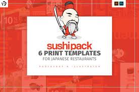 Resturant Menu Template Sushi Restaurant Menu Template Pack Brandpacks