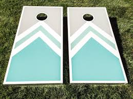 Cornhole Board Design Ideas Turquoise Cornhole Boards I Used 1x4x8s For The Sides And A