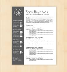 Resume Templates For Designers Design Resume Template Resume Template Sara Reynolds Free Resume 1