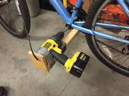 picture of diy drill bike