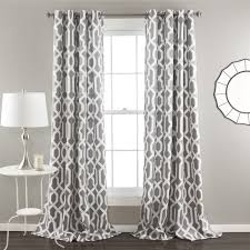 Geometric Patterned Curtains Lush Decor Edward Moroccan Pattern Blackout Curtain Panel Pair 84