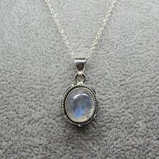 rainbow moonstone necklace sterling silver and rainbow moonstone