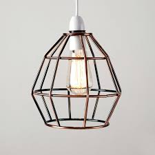 modern copper metal wire frame ceiling pendant light lamp shade with plan shades vintage easy fit vintage rustic metal pendant lights