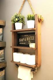 bathroom shelf with towel bar rustic storage industrial pipe glass and rack wall shelves r