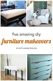 diy furniture makeovers. 5 DIY Furniture Makeovers | Do Tell Tuesday At Mabey She Made It Diy