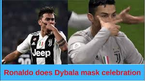 Fan goes crazy as Ronaldo does Dybala mask celebration - YouTube