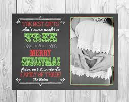 Christmas Themed Pregnancy Announcement Card By